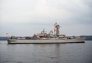HMS Argonaut in the Potomac River in 1995