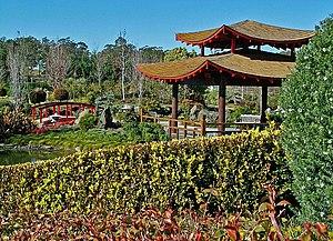 Japanese pagoda at the Hunter Valley Gardens