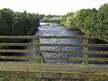 Haltwhistle A69 Bridge, West from Bellister Bridge.jpg