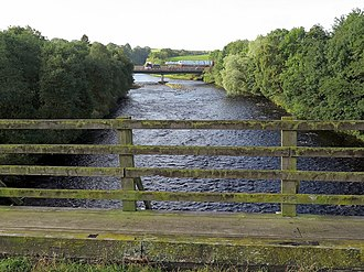 Haltwhistle A69 Bridge, West - Haltwhistle A69 Bridge, West (in the distance)