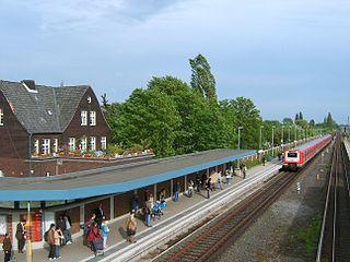 Billwerder-Moorfleet station railway station in Hamburg, Germany