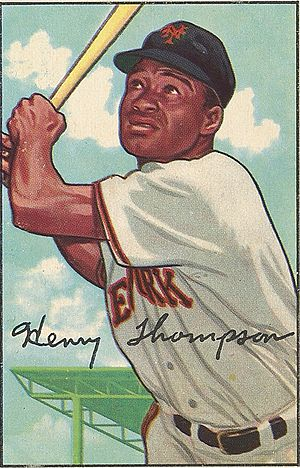 Hank Thompson (baseball) - Image: Hank Thompson Met Museum card