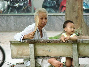 Hanoi - Vietnam - Old and Young.JPG
