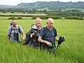 Happy walkers approaching Lastingham - geograph.org.uk - 1607079.jpg