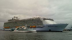 Die Harmony of the Seas in Rotterdam, 24. Mai 2016