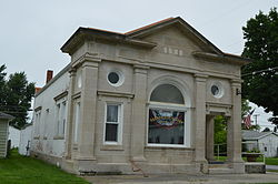 Former Harrod State Bank, now a museum
