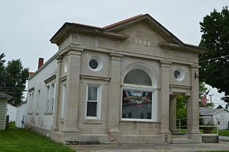 Harrod, Ohio - Former Harrod State Bank, now a museum