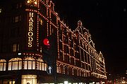 The exterior of Harrods in London.