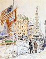 Hassam - flags-columbus-circle.jpg