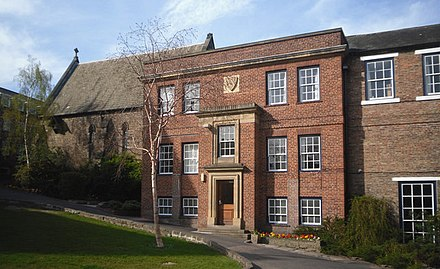 Hatfield College, one of the five colleges along the Bailey Hatfield College, Durham.jpg