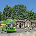 Haworth Station and old bus (27251858120).jpg