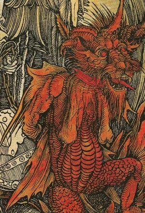 English: Detail of work Heaven and Hell includ...