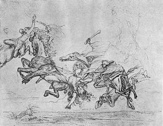 Ludvig Abelin Schou - Image: Hel og Valkyrien by Schou