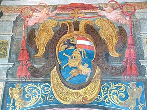 Mark Sittich von Hohenems (Prince-Archbishop of Salzburg) - Coat of arms of Archbishop Mark Sittich, Hellbrunn Palace