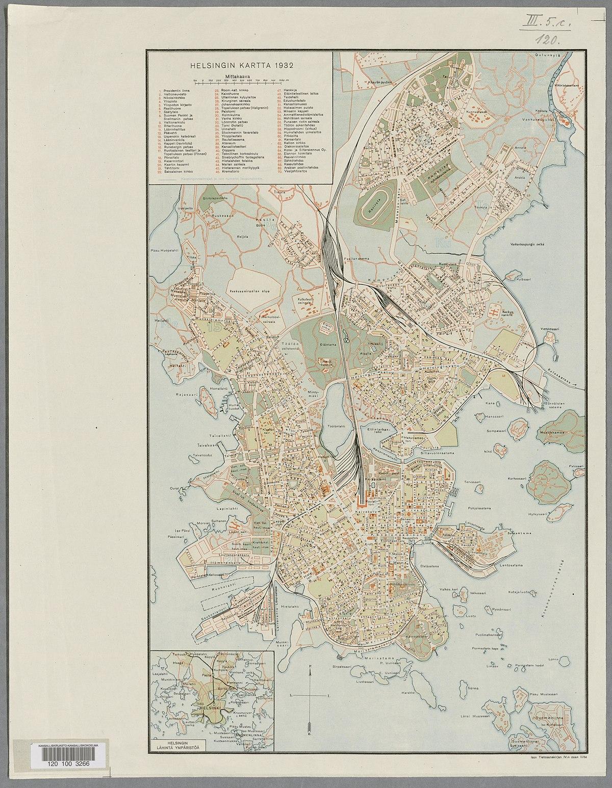 File Helsingin Kartta 1932 2 Jpeg Wikimedia Commons