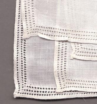 Hemstitch - Hemstitched handkerchief.
