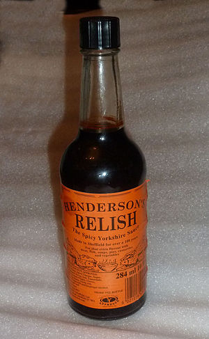 Henderson's Relish - A bottle of Henderson's Relish