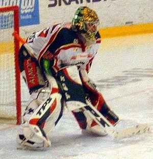 Henrik Lundqvist - Henrik Lundqvist with Frölunda HC in the 2004-05 season