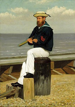Henry Stacy Marks (1829-1898) - Sailor on Look Out - BHC1275 - Royal Museums Greenwich