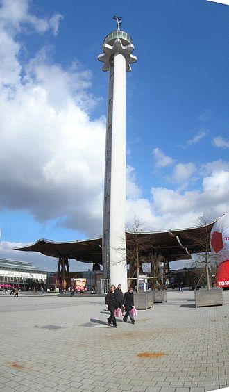 Hanover Fairground - Hermes tower on the Hanover Fairground
