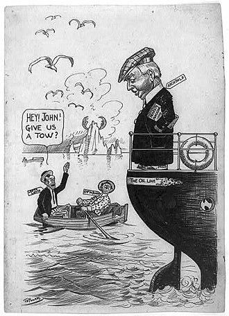 John Dustin Archbold - 1912 political cartoon (Thomas E. Powers, US Library of Congress)