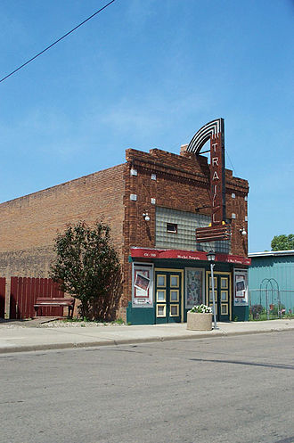 Hillsboro, North Dakota - The historic Traill Theatre in Hillsboro