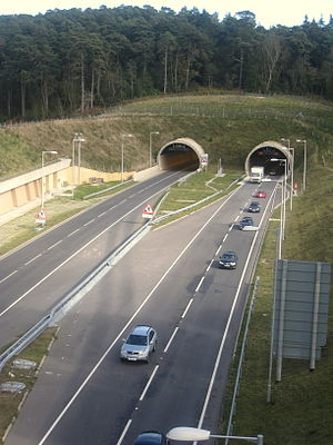 Hindhead - The southern portal of the Hindhead Tunnel