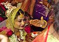 Hindu Wedding Bride receiving blessings Delhi India.jpg