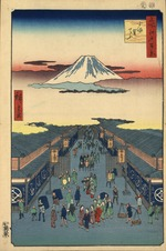 Hiroshige Hundred views Edo 8 Suruga-chō (する賀てふ).tif