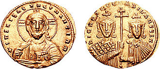 Constantine VIII - Histamenon of Nikephoros II (left) and Basil II (right)