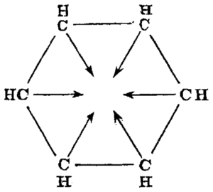 Henry Edward Armstrong - Armstrong's centric structure for benzene