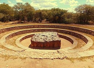 Iron meteorite - Image: Hoba Meteorite sire
