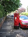 Holly Avenue, ornate postbox and matching car - geograph.org.uk - 490618.jpg
