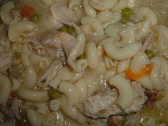 Sopas - Image: Homemade chicken soup