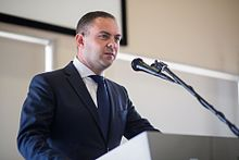 "Hon. Owen Bonnici MP - Minister for Justice, Culture and Local Government Malta at the Europeana Strategy meeting ""Migration and culture- how can our past educate our present"" (34024402984).jpg"
