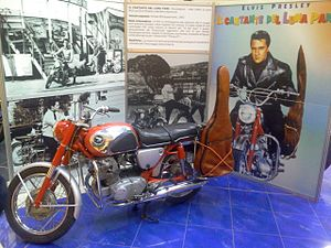 """Roustabout (film) - Image: Honda CB77 from the movie """"Roustabout"""" (1964)"""