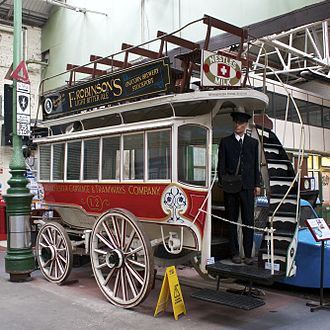 History of public transport authorities in Manchester - Horse tram operated by the Manchester Corporation Tramways Department