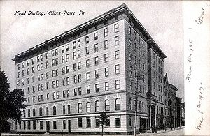 English: Hotel Sterling, Wilkes-Barre