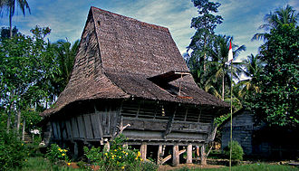 Sumatra - Traditional house in Nias North Sumatra