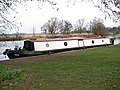Houseboat moored on the River Yare by Bramerton Common - geograph.org.uk - 1759817.jpg