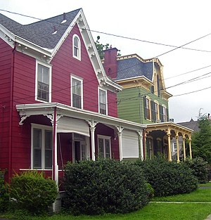 National Register of Historic Places listings in Poughkeepsie, New York - Image: Houses on Balding Avenue, Poughkeepsie, NY