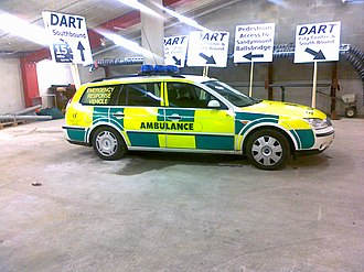 Advanced life support - A HSE advanced paramedic vehicle, at Aviva Stadium, Dublin, Ireland