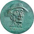 Hubertus von Pilgrim Medaille auf Hermann Hesse 2003.jpg