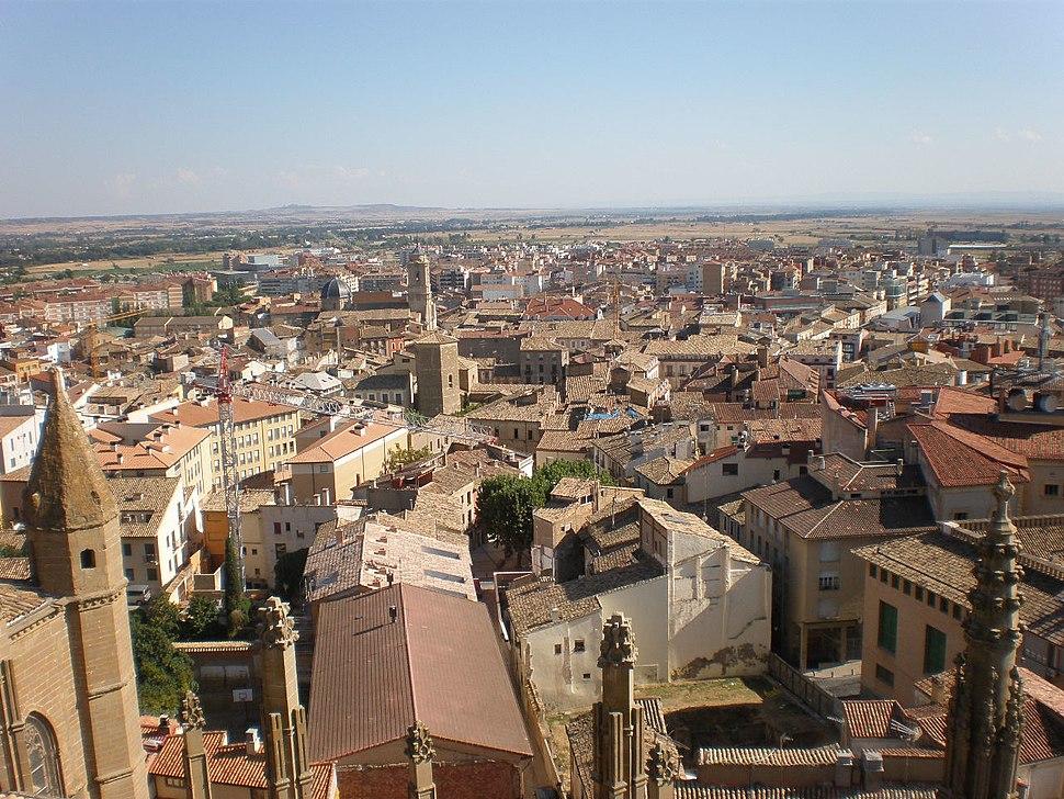 Huesca desde o aire.