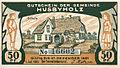Husbyholz, Notgeld, 1921, 50 Pfennig, Schule, Vorderseite.jpg