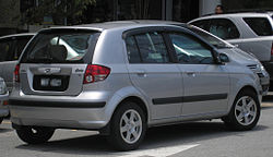 Hyundai Getz (first generation) (rear), Serdang.jpg