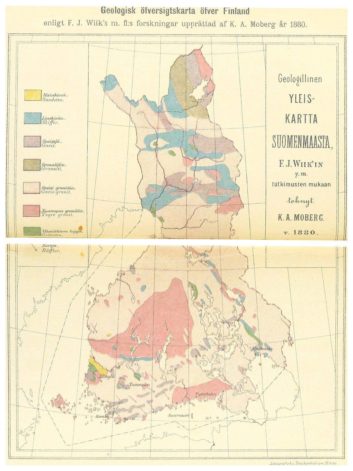 File Ignatius 1891 P186 Geologisk Ofversigtskarta Ofver Finland