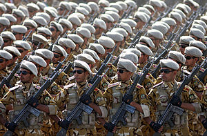 Islamic Republic of Iran Army Ground Forces - IRIA Soldiers marching in formation