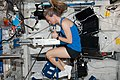 ISS-37 Karen Nyberg performs Body Mass Measurement activities.jpg