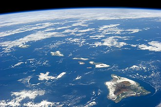 Hawaiian Islands - Image: ISS 38 Hawaiian Island chain